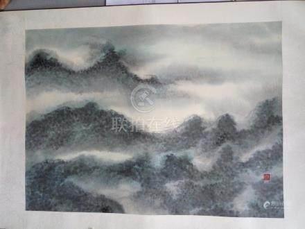 陳炳石 - 望夫石 陳炳石:香港畫家,作品曾展出於香港2007年回歸聯展。