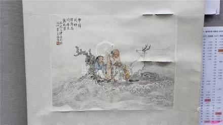 潘子端 - 人物(原裝舊裱)