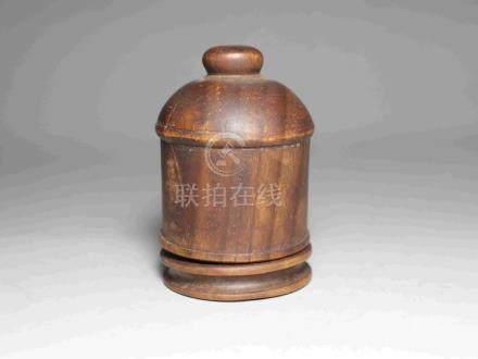 OLD BOXWOOD BOX FOR TRIGGER FINGER RING