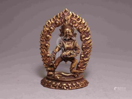 TIBETAN COPPER BUDDHA STATUE
