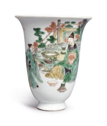 A FAMILLE-VERTE 'LI BAI' CUPQing Dynasty, Kangxi Period