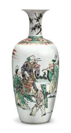 A FINE FAMILLE-VERTE 'DAOIST' VASEQing Dynasty, Kangxi Period