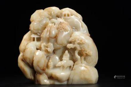 A HETIAN JADE CARVING OF MOUNTAIN