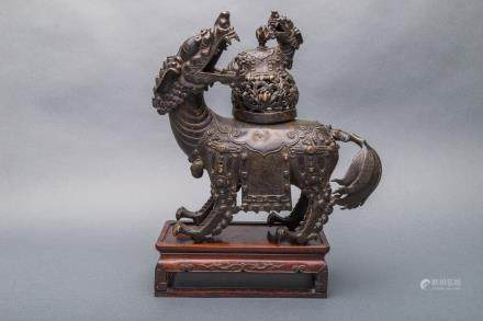 A Rare Patinated Bronze