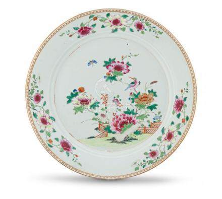 A Chinese Export famille-rose dish, Qing Dynasty, Qianlong period, 1736-1795