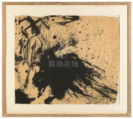 Walasse Ting (Chinese/American, 1929-2010) Untitled. Untitled ink on Paper. 1960. Signed and