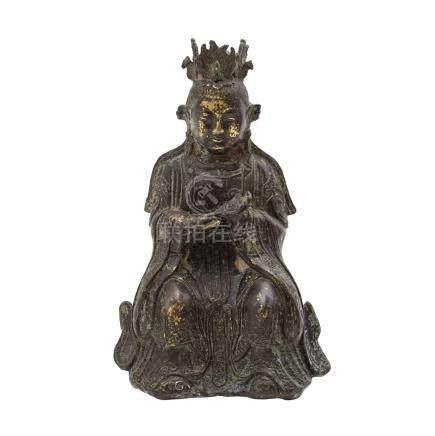 Bronze der Göttin Bixia yuajun. CHINA, Qing-Dynastie (1644-1912)Die daoistische Göttin ist