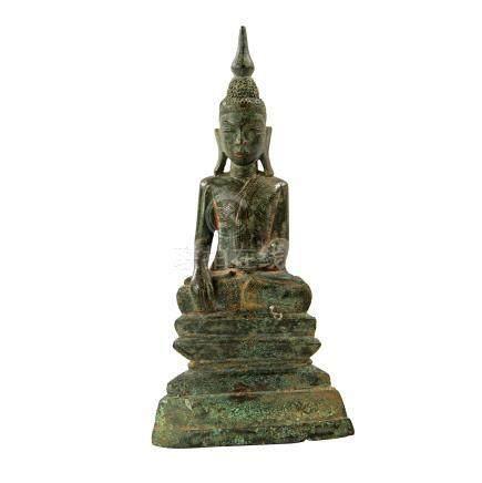Bronze des Buddha Shakyamuni. THAILAND, wohl 19. Jh.H 22,5 cm.