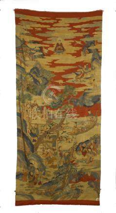 CHINESE EMBROIDERY KESI IMMORTAL TAPESTRY