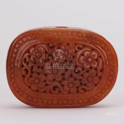 CHINESE RED ANCIENT JADE PENDANT