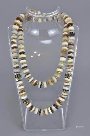 A banded agate necklace.