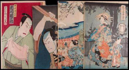 KUNISADA/Toyokuni III and KUNICHIKA Woodblock Prints