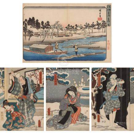 Ando Hiroshige (1797-1858); Together with Utagawa Kunisada (
