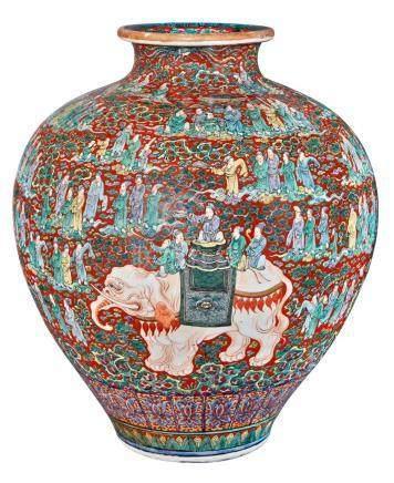 Large Japanese Kutani Vase