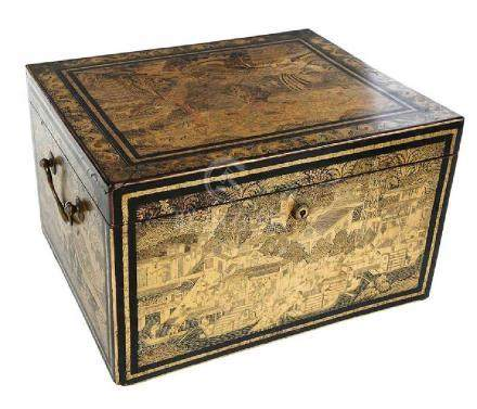 Chinese 19th Century Gilt Lacquer Box