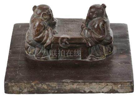Chinese Stone Oversized Scroll Weight