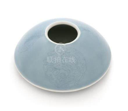 A Claire-de-Lune Glazed Porcelain Water Coupe Diameter