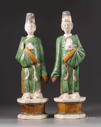 Two Chinese terracotta figures