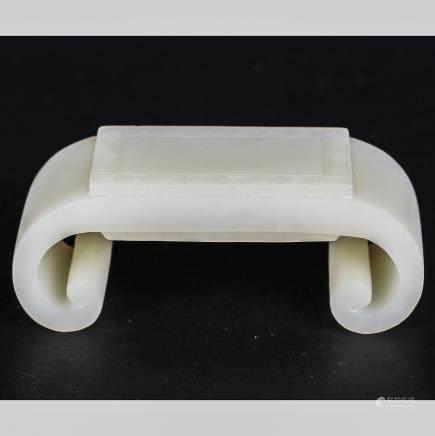 CHINESE WHITE JADE BRUSH REST