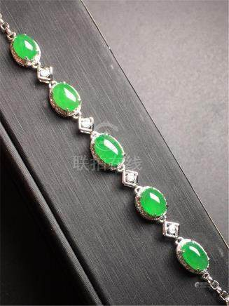 18K GOLD DIAMOND NATURAL JADEITE BRACELET