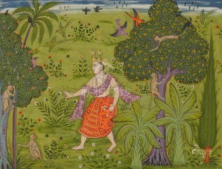 FOLIO 24 FROM THE EARLIEST KSHEMAKARNA RAGAMALA: MISHTANGA PUTRA MALKOS RAGA POPULAR MUGHAL, CIRCA 1610