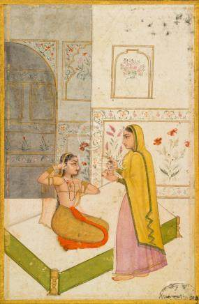 AN ILLUSTRATION TO A RAGAMALA SERIES: VILAVAL RAGINI  LATE MUGHAL, SECOND HALF OF THE 18TH CENTURY