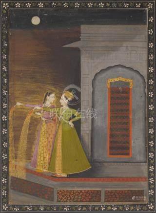 COURTESANS ENJOYING FIREWORKS GULER, CIRCA 1760