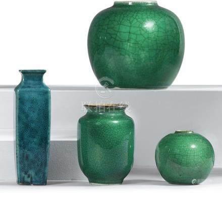 清十九世紀   單色釉瓷四件
