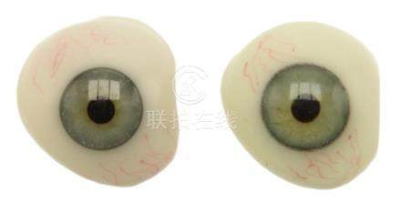 European Glass Eye c1900 (Display Only - Not For Sale)