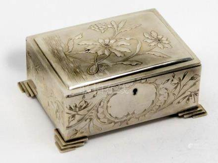 Russian Antique Silver Jewelry Box