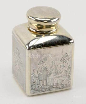 Antique Russian Silver Tea Caddy 1871 Dmitry Nikolayev