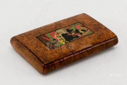 Antique Russian Burl Wood Cigarette Case