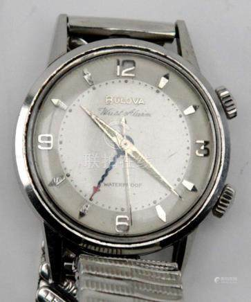 Antique Bulova Wrist Alarm Mens Watch
