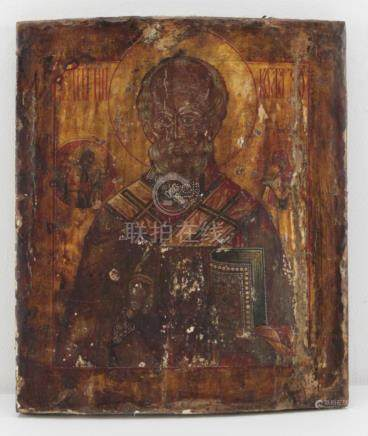 17 Century Russian Saint Nicholas Icon