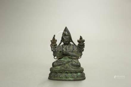 銅鎏金宗喀巴座像