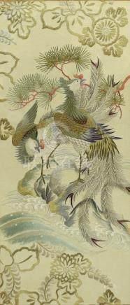 刺繡鳳凰 框