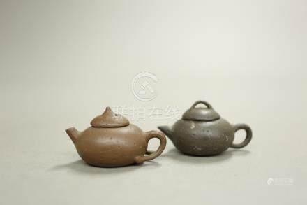 紫砂小茶壺2點一組