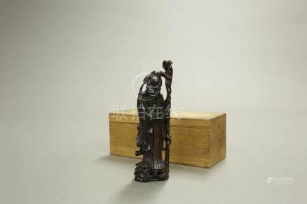 木雕壽星擺件