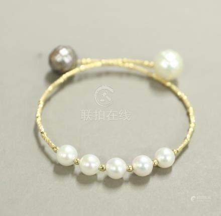 K18 珍珠手環