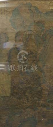 青綠山水圖 框