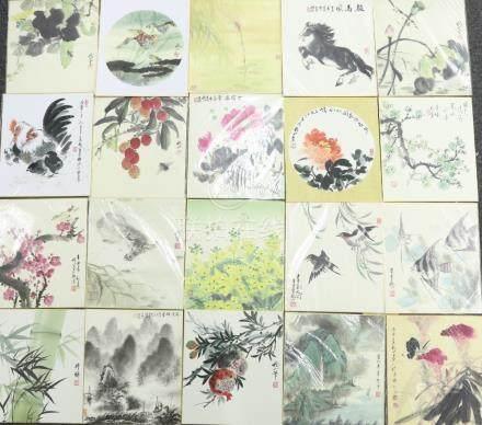花鳥山水圖卡片20枚一組