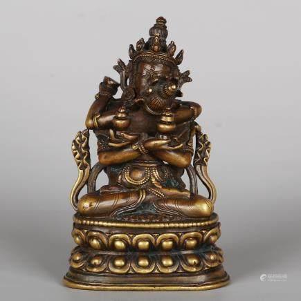 CHINESE BRONZE BUDDHIST FIGURINE