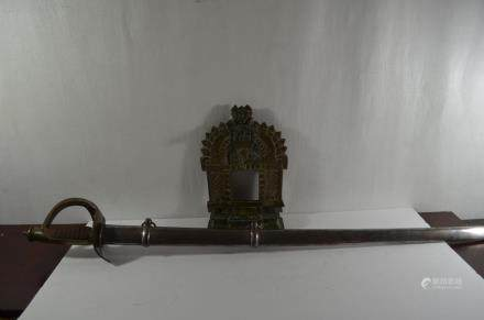 19th.C Indian Bronze Shrines and Sword