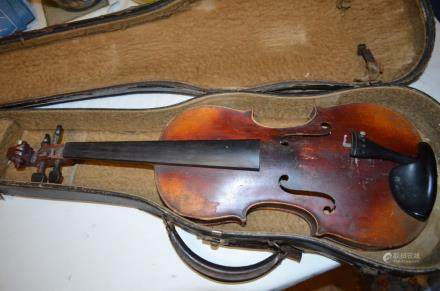 Antique 1900s Violin inside label made in Germany