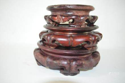 Group of Vintage Antique Wood Stands