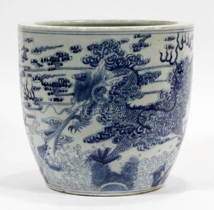 CHINESE, PORCELAIN BLUE & WHITE JAR