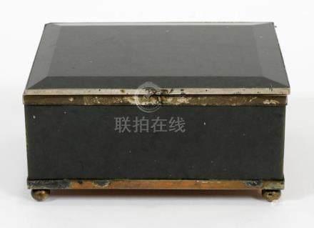 """CHINESE JADE BOX 19TH.C. H 2"""" W 4.5"""""""