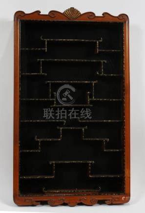 CHINESE TEAKWOOD NETSUKES CABINET