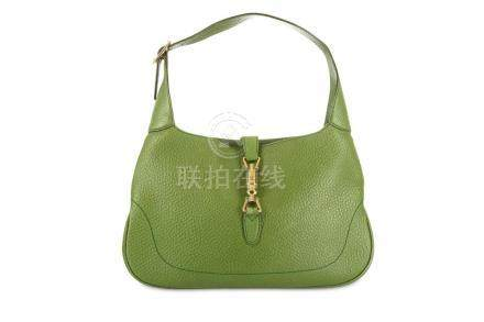 Gucci Green Jackie O Shoulder Bag, grained leather with pale
