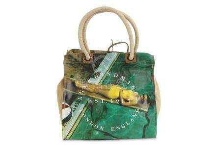 Anya Hindmarch Tote, printed with a scene of a sunbathing wo